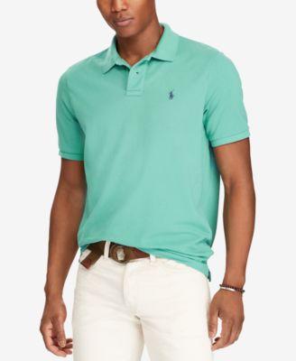 Ralph Lauren Light Blue Short Sleeved Mesh Men Polo