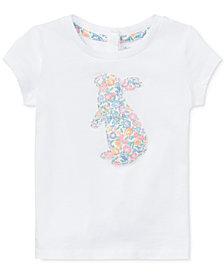 Ralph Lauren Floral-Print Cotton T-Shirt, Baby Girls