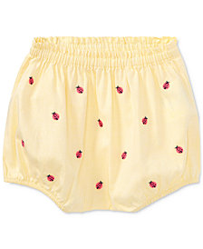 Ralph Lauren Oxford Cotton Bloomer, Baby Girls
