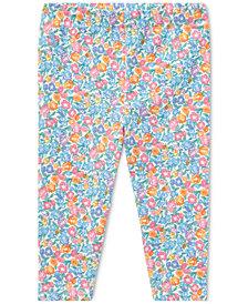 Ralph Lauren Floral-Print Leggings, Baby Girls