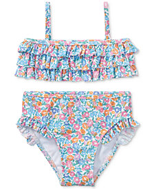 Ralph Lauren Floral-Print 2-Pc. Swimsuit, Baby Girls