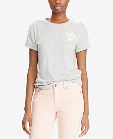 Lauren Ralph Lauren Petite Embroidered T-Shirt