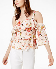 Rachel Zoe Silk Cold-Shoulder Top