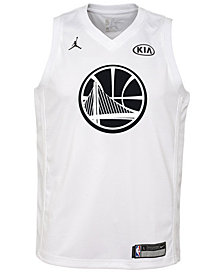 Nike Golden Stephen Curry State Warriors All Star Swingman Jersey, Big Boys (8-20)