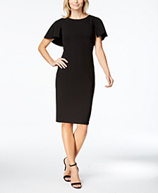 Calvin Klein Caped Sheath Dress