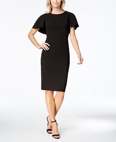 Calvin Klein Caped Sheath Dress
