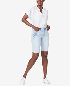 NYDJ Briella Tummy-Control Denim Shorts