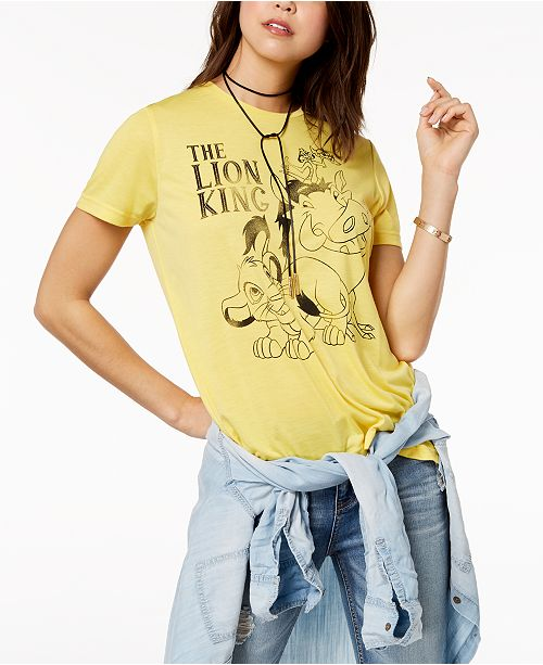 5c77114f6 Mighty Fine Juniors' The Lion King Graphic-Print T-Shirt & Reviews ...