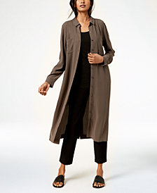Eileen Fisher Silk Shirtdress, Tank Top & Cropped Pants