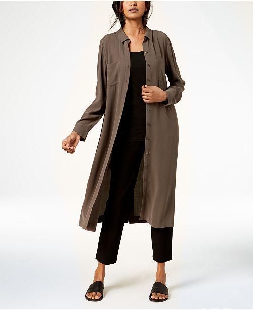 Silk Shirtdress, Tank Top & Cropped Pants