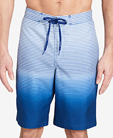 "Calvin Klein Men's Degrade Stripe 9"" Board Shorts"