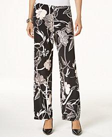 Alfani Printed Wide-Leg Pants, Created for Macy's