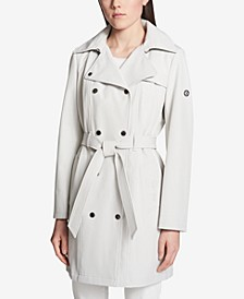Hooded Double-Breasted Trench Coat, Created for Macy's