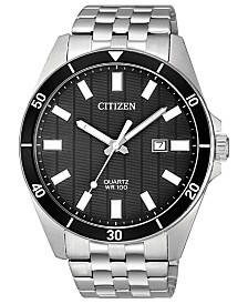 Citizen Men's Quartz Stainless Steel Bracelet Watch 42mm