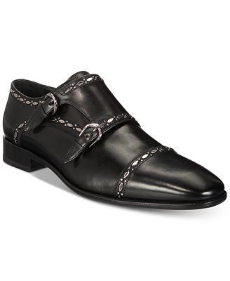 Roberto CavalliMen's Cap Toe Double-Buckle Monk Strap Loafers Men's Shoes