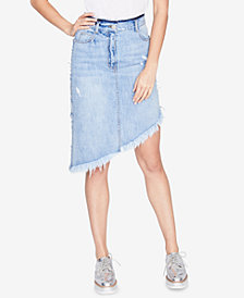RACHEL Rachel Roy Asymmetrical Denim Skirt, Created for Macy's