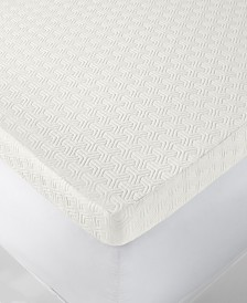 "Martha Stewart Collection Dream Science 4"" Memory Foam Twin Mattress Topper, Created for Macy's"
