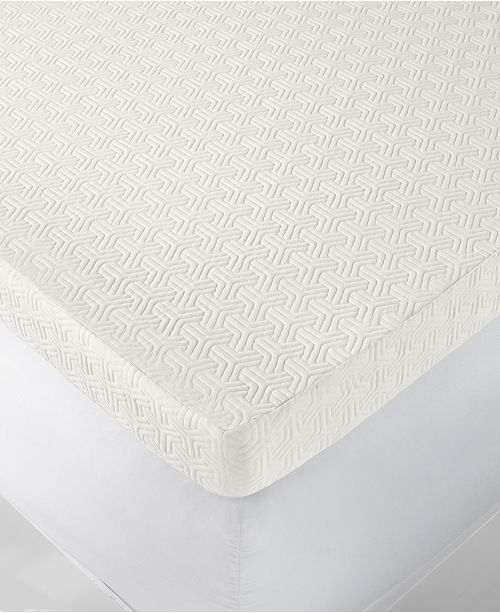 """Martha Stewart Collection CLOSEOUT! 4"""" Memory Foam Twin Mattress Topper, Created for Macy's"""