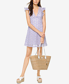 MICHAEL Michael Kors Floral Embroidered A-Line Dress