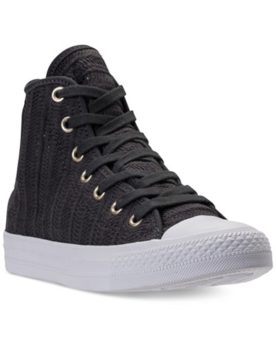 Converse Women's Chuck Taylor Hi Woven Casual Sneakers from Finish Line