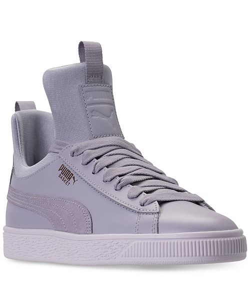 ... Finish Line  Puma Big Girls  Basket Fierce High Top Casual Sneakers  from Finish ... a12ddeb40
