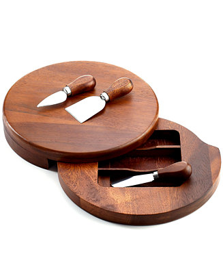 The Cellar Acacia Wood Cheese Board With Knife Set Serveware Dining Entertaining Macy 39 S