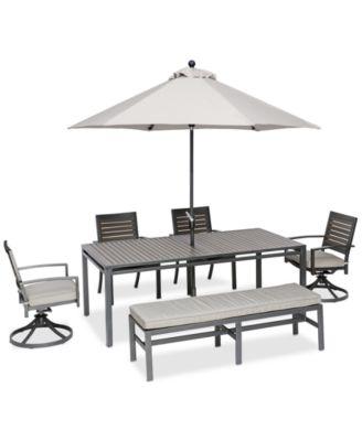 Marlough II Aluminum Outdoor 6 Pc. Dining Set (84