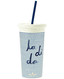 kate spade new york Tumbler with Straw, Seersucker