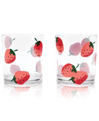 Strawberries Drinkware, Set of 2