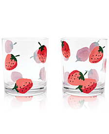kate spade new york Strawberries Drinkware, Set of 2