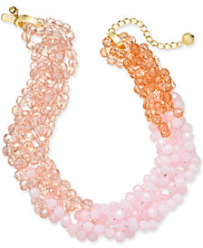 """kate spade new york Gold-Tone Colored Bead 18"""" Torsade Necklace"""