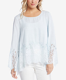 Karen Kane Lace-Trim Top