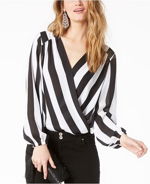 INC C Wrap Stripe Faux Striped Macy's Concepts I Referee N Petite for International Top Created rIq86xwfr
