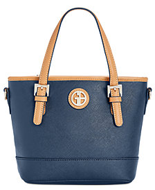 Giani Bernini Saffiano Mini Convertible Tote, Created for Macy's