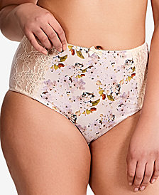 Sculptresse by Panache Chi Chi Plus Size Lace-Panel Brief 7692