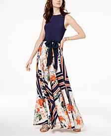 I.N.C. Petite Tie-Waist Maxi Dress, Created for Macy's