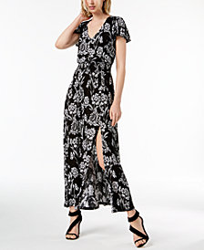 I.N.C. Floral-Print Shirred-Waist Dress, Created for Macy's