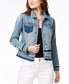 I.N.C. Frayed Denim Jacket, Created for Macy's