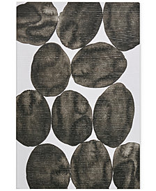 """INK+IVY 'Painted Puzzle Grey' 24"""" x 36"""" Gel-Coated Canvas Print"""