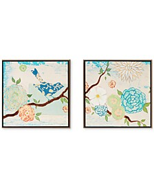 Intelligent Design 'Blooming Florals' Gel-Coated Decorative Boxes, Set of 2
