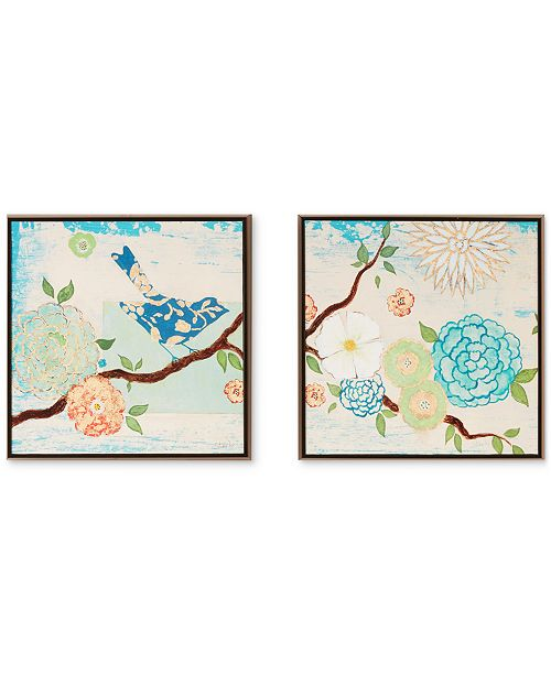 JLA Home   Intelligent Design 'Blooming Florals' Gel-Coated Decorative Boxes, Set of 2