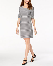 Style & Co Striped Cutout-Back Dress, Created for Macy's