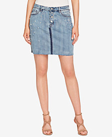 WILLIAM RAST Embellished Denim Skirt