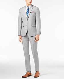 Original Penguin Men's Slim-Fit Stretch Light Gray Suit