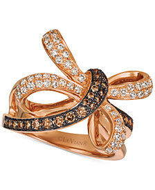 Le Vian Chocolatier® Diamond Contemporary Knot Ring (3/4 ct. t.w.) in 14k Rose Gold