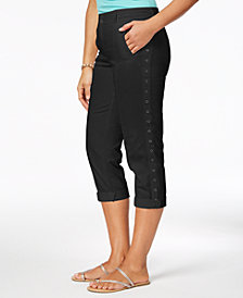 Style & Co Grommet-Trim Capri Pants, Created for Macy's
