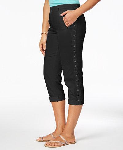 Style & Co Grommet-Trim Capri Pants, Created for Macy's
