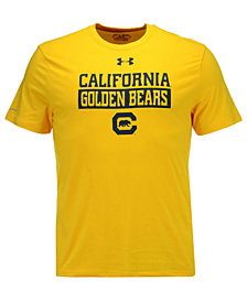 Under Armour Men's California Golden Bears Lead Block Charged T-Shirt