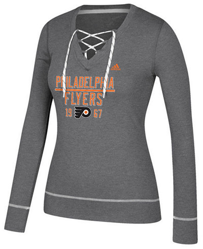adidas Women's Philadelphia Flyers Skate Lace Long Sleeve T-Shirt