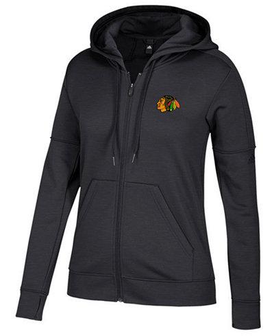 adidas Women's Chicago Blackhawks Logo Stitched Full-Zip Hooded Sweatshirt